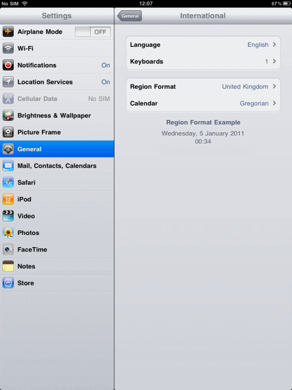 how to change language settings on ipad