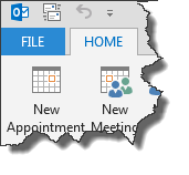 File Menu Button in Outlook 2013